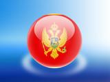 bandeira de Montenegro poster