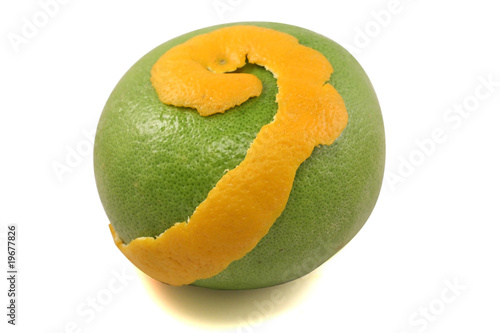 sweet green Pomelo (grapefruit)