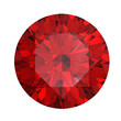 canvas print picture - Red round shaped garnet