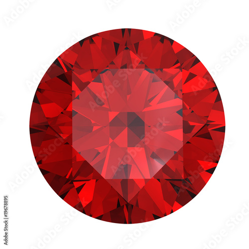 canvas print picture Red round shaped garnet
