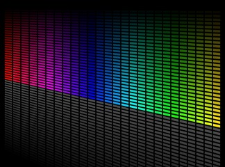 Vector digital equalizer. Volume wave background.