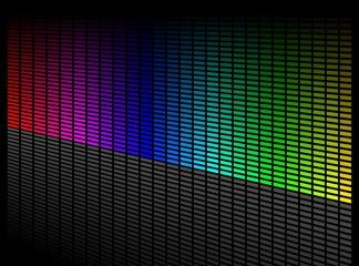 Vector digital equalizer. Volume wave background.