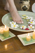 Relaxing aromatherapy spa for feet