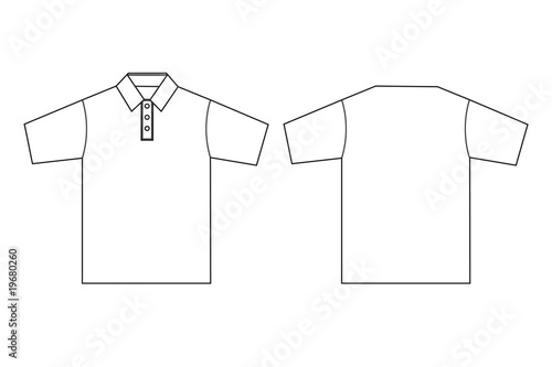 Vector: blank polo tee shirt template vector