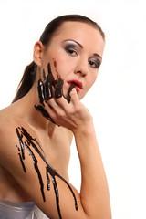 erotisch mit Schokolade