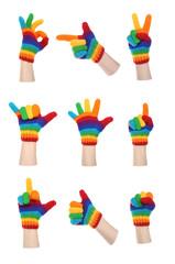 Rainbow Gloves Gesturing