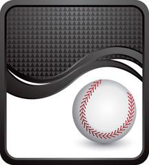 baseball black checkered wave background
