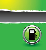 gas icon green ripped banner poster