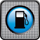 gas icon silver checkered web button poster