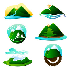 mountain graphic elements