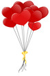 Red heart baloons