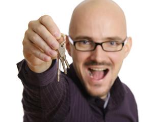 Mann mit Schlüsselbund