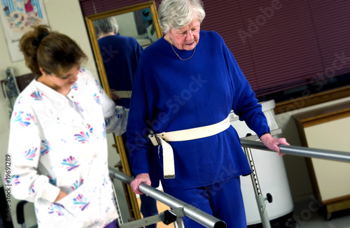 Woman in physical rehabilitation