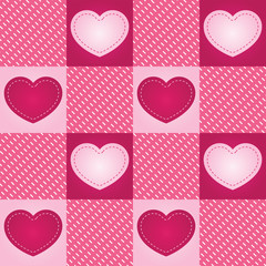 Checkered Heart Seamless Tile