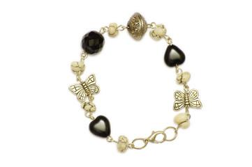 A necklace of glass bracelet, industrial arts