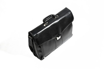 the black leather bag