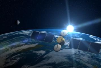 Satellite over Earth, NTSC