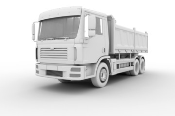 Dump Truck - isolated on white