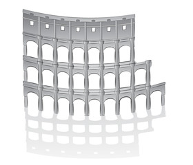 Roman colosseum illustration