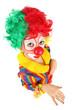 clown enfant vue plongeante isolé sur fond blanc