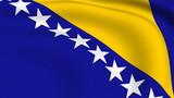Flying Flag of Bosnia and Herzegovina | LOOPED | poster