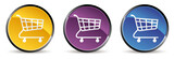 set of shopping cart icon in vector mode