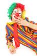 clown enfant isolé sur fond blanc