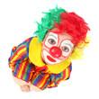 clown enfant vue plongeante