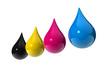 cmyk ink drops