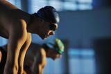 Fototapety young swimmmer on swimming start