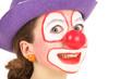 Tête de clown enfant