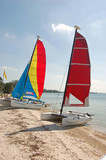 Catamarans on a Southeast Florida Beach poster
