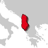 Albania 3d poster