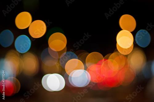 Foto op Aluminium Las Vegas Defocused lights