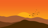 Mountains at sunset - 19712218