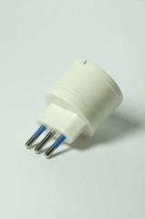 presa elettrica adattatore bianco
