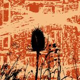 Grunge Weeds poster