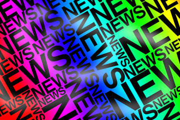 News typographie couleurs