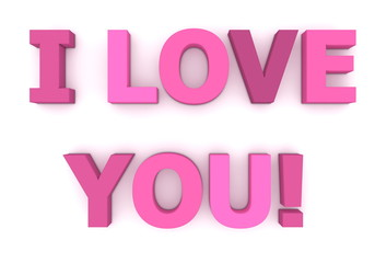 I Love You in Pink and Purple - Two Lines