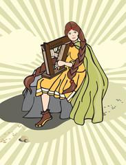 Girl harp
