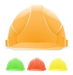 Hardhat in Different Colours. The front view