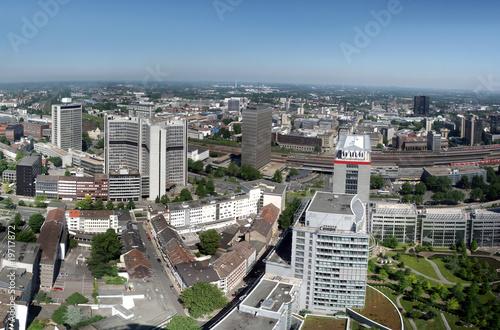 Leinwandbild Motiv Panorama der Stadt Essen im Ruhrgebiet