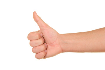 Hand with lifted finger
