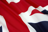Close up shot of flag of England