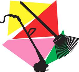 Vaccum cleaner  and Broom