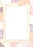 border a4 patchwork poster
