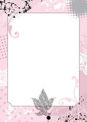 grunge pink border