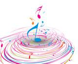 Fototapety Music theme