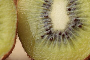 Macro de un kiwi