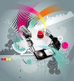 Fototapety Microphone vector